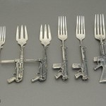 Assault-Forks-Rifle-Shotgun-Cutlery-Silver